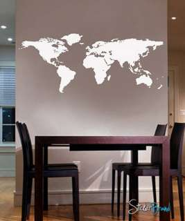 Vinyl Wall Art Decal Sticker World Map Atlas Country