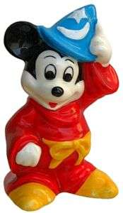 Vntg Japan DISNEY FANTASIA MICKEY MOUSE SORCERER Figurine