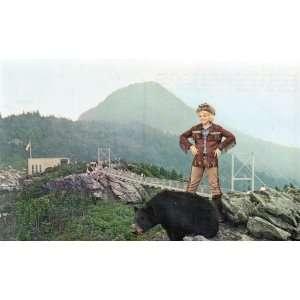 Darby Hinton, Daniel Boones Son POST CARD: Grandfather Mountain, NC