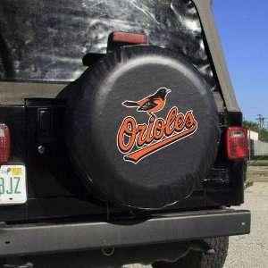 MLB Baltimore Orioles Black Logo Tire Cover  Sports