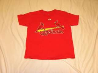 MAJESTIC ST LOUIS CARDINALS ALBERT PUJOLS YOUTH T SHIRT