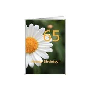65th Birthday card, white daisy Card: Toys & Games