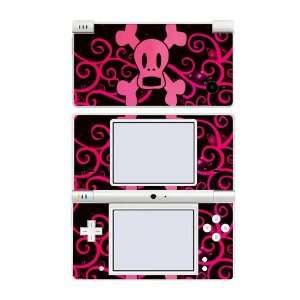 Nintendo DSi Skin Decal Sticker   Pink Screaming Crossbones