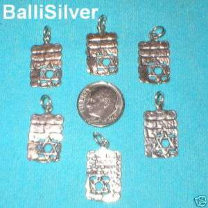 pieces Sterling Silver 925 WESTERN WALL with STAR of DAVID Charms
