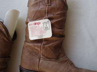 DINGO mens Western Cowboy natural leather boots, 8, $155.98 , NWT