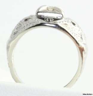 32nd Degree Scottish Rite Masonic Diamond Ring   10k Gold Masons