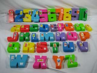 TYCO Sesame Street Jumbo Number and ABC Letter Blocks   HTF Complete