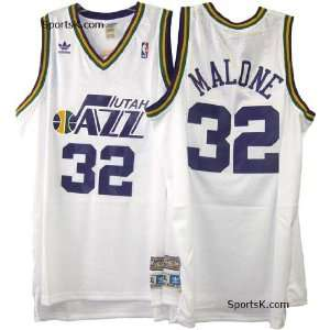 Utah Jazz Karl Malone Throwback Jersey