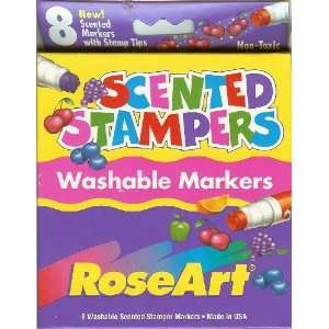 Rose Art Scented Stampers Washable Markers Set of 8: Toys & Games