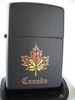 BLACK MATTE CANADA CANADIAN MAPLE LEAF ZIPPO GIFT BOX