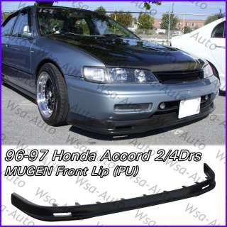 96 97 Honda Accord MUGEN JDM Front Bumper Lip PU Sedan