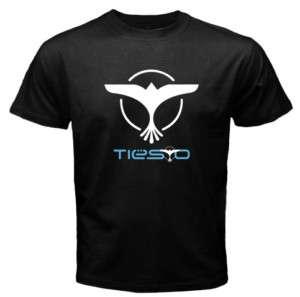 DJ Tiesto Logo Bird Mens Black T Shirt Sz S   XL