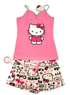 Sanrio Hello kitty SleepWear Tank Top and Pants Pink White