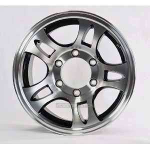 Trailer Rims Wheels 15 15X6 6 Lug Hole Bolt Aluminum Split Spoke