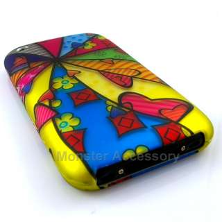 Crazy Rainbow Rubberized Hard Case Cover For Apple iPhone 3G 3GS