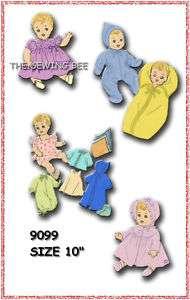 9099 Baby Doll Wardrobe Pattern Patsy Babyette 10