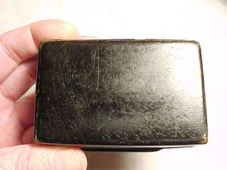 Civil War Era Paper Mache Chew Tobacco SNUFF BOX