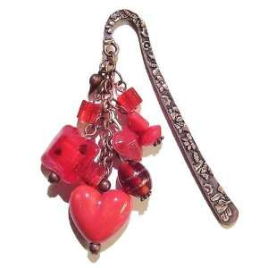 The Black Cat Jewellery Store Antique Copper & Red Heart
