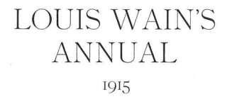 LOUIS WAIN CATS.Set E. 4 Charming vintage prints.1915