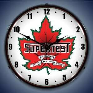 Supertest Gas Logo Lighted Clock