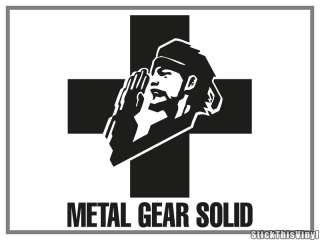 Metal Gear Solid Logo Game Die Cut Decal Sticker (2x)