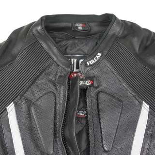 Vulcan NF 81118 Armored Mens Racing Leather Motorcycle Jacket with