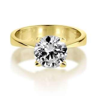 CARAT VVS D GENUINE ROUND CUT SOLITAIRE DIAMOND 18K YELLOW GOLD