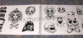 SKULLS FOR ALL Tattoo Flash Machine Gun Kit BOOK
