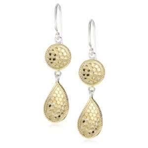 Anna Beck Designs Gili Double Drop 18k Gold Plated Earrings: Jewelry