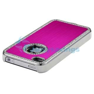 Pink Luxury Bling Diamond Aluminium Hard Case+PRIVACY Filter for