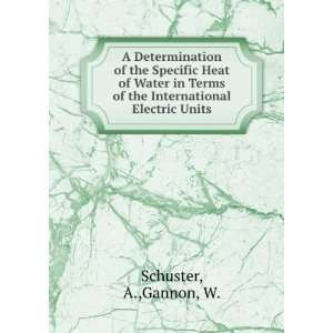 of the International Electric Units: A.,Gannon, W. Schuster: Books