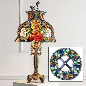 Dale Tiffany Butterfly And Rose Table Lamp
