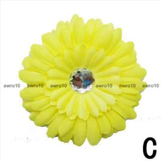 1Pieces Adorable baby daisy flower & hair bow clips/C