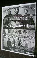 BLIND MELON North Mississippi Allstars concert flyer 08