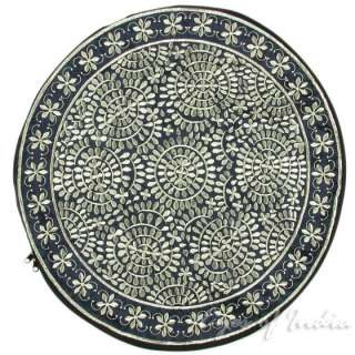 22 INDIAN SILK EMBROIDERED FLOOR PILLOW CUSHION FLORAL Ethnic Indian