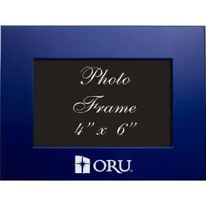 Oral Roberts University   4x6 Brushed Metal Picture Frame