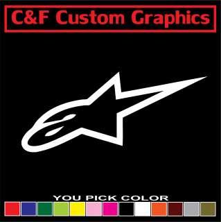 Alpinestar Logo #2 Car Truck ATV Vinyl Decal 3x7 You Pick Color