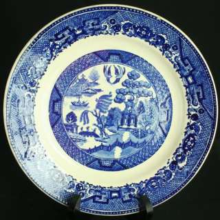ANTIQUE FRENCH BLUE WILLOW CERAMIC PLATE CHARGER NIMY