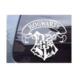 Harry Potter Hogwarts Crest Ipad Laptop Car Vinyl Decal Sticker  White