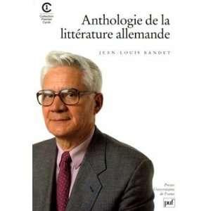 de la littérature allemande (9782130466895): Bandet Jean Louis: Books
