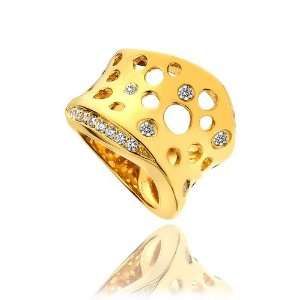 Mishca Jewels Luxury Gold Plated Silver Cubic Zirconia