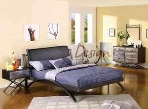 PC Kids Boys Teen Bedroom Set Twin Full Queen Bed Dresser Chrome