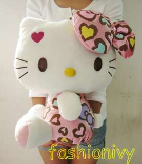 Hello kitty Pink bowknot red heart stuffed plush 40 cm