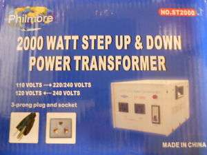 Philmore Step up & Step down transformer