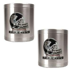 Atlanta Falcons NFL 2pc Stainless Steel Can Holder Set  Helmet Logo