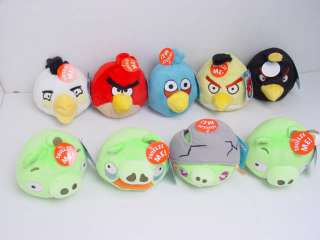 Angry Birds Set Of 9 With Sound Plush Toys Licensed