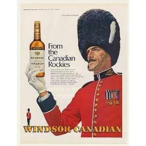 1971 Windsor Guardsman Windsor Canadian Whisky Print Ad