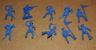 MARX 173 Toy Soldiers HUGE MIXED VINTAGE LOT Civil War Horses CAVALRY