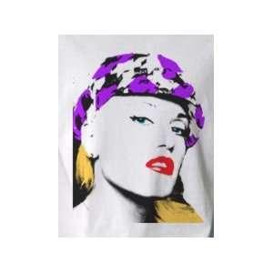 Gwen Stefani Purple Hat No Doubt   Pop Art Graphic T shirt