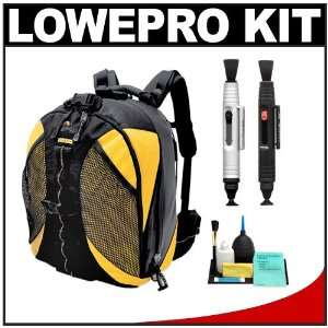 SLR Camera Backpack Case (Black/Yellow) + Accessory Kit for Canon